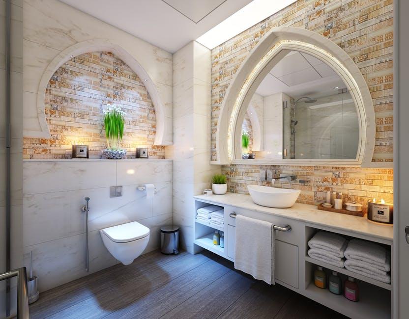 rustykalne lustro łazienkowe